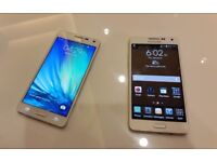 SAMSUNG GALAXY A 3 2015 SIM FREE WHITE WITH CHARGER AND THREE MONTHS WARRANTY