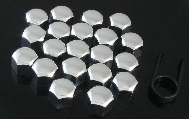 20 St. Kappen-Set Abdeckungen 19mm Radmuttern Radschrauben CHROM