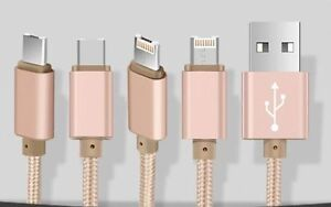 New Universal Nylon Braided USB Cable For Iphone And Android