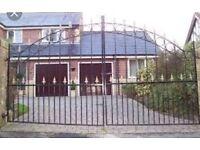 7ft Concertina Wrought Iron Gates