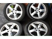 Honda Alloy Wheels with Tyres X 4