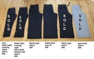 various sizes of Lululemon capris/pants - sizes 8 to 12 Kitchener / Waterloo Kitchener Area image 1