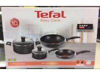 Brand new tefal set of 4 pans easy care quality set