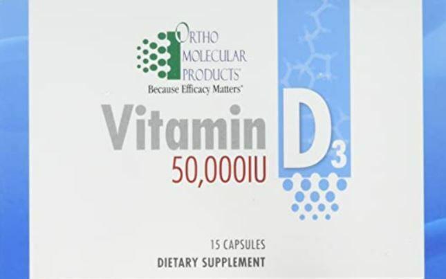 Vitamin D3 50,000IU Ortho Molecular - 15 Capsule Blister Pack