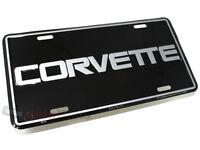 2005-2013 C6 Corvette Black License Plate Frame OEM 15236175 NEW