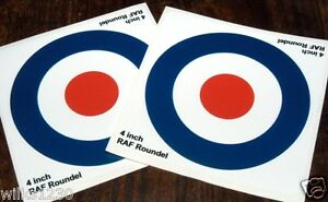 4inch RAF Roundel The Who Mod Target x2 Scooter Decals stickers Vespa car decal