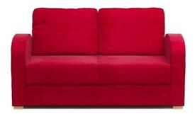 Double Sofa Bed (red), EXCELLENT condition - 2 seater