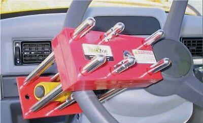 Steering Wheel Lock For Case Cat Jcb Deere Bobcat Backhoe Forklift Loader More