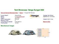 Vango Sungari 6 berth tent. £20.00. o.n.o