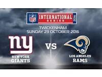 8 x nfl international series new york giants vs la rams 140.00 per ticket collected at stubhub