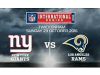 2 x NFL Tickets - Twickenham - New York Giants Vs LA Rams - £230 the pair. *GREAT SEATS*