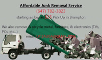 Lowest prices from $0  in Brampton,Mississauga,for Junkremoval