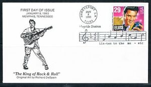 1993-Elvis-Presley-First-Day-Cover-FDC-Louisiana-Hayride-UO-Cancellation-Sc2721