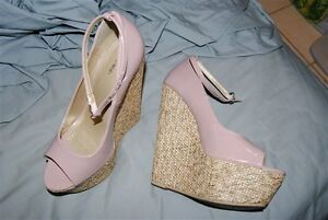 HIGH wedge shoes size 7.5