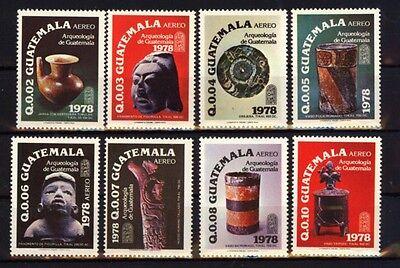 Guatemala 1130/37 Archäologie postfrisch