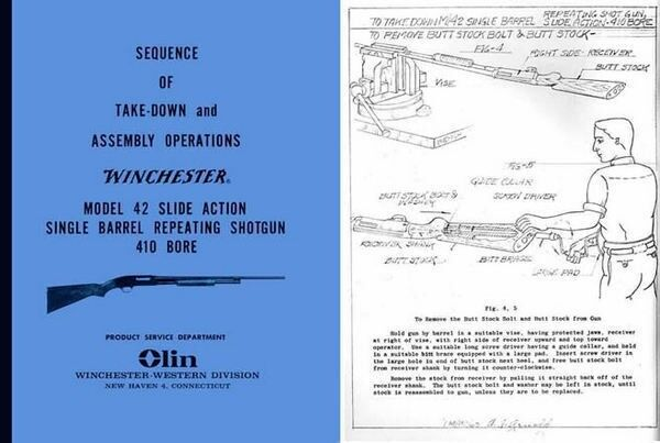 Winchester Model 42 Sequence of Take-Down and Assembly Operations