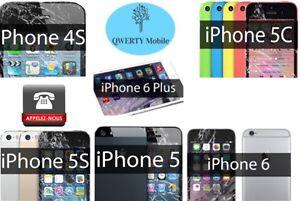Réparation iPhone / remplacement écran / vitre+lcd neuf