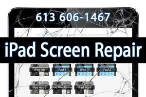 iPad Repair - Broken iPad iPhone Screen - Cracked iPad Screen Repair  iPad 2 3 4 iPad Air - iPad Mini - We Come To You