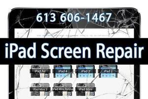 Apple iPad Screen Repair - iPad 2 - iPad 3 - iPad 4 - iPad Mini - iPad Air - iPad Digitizer Replacement - iPhone Repair