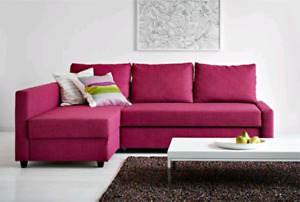 Free delivery: Ikea Friheten Sofabed - Pink