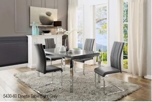 AFFORDABLE,BEAUTIFUL,Modern Dinette,light grey high gloss top/ c