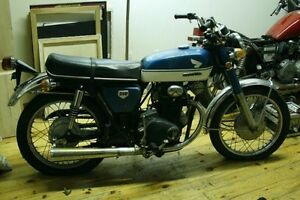 1970 Honda CB350 works great, unrestored, driver condition