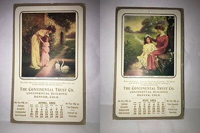 (2) Lot Co. Denver The Continental Trust Co.Calender divided posted 1911