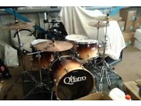 Mapex Pro M Drum kit in Caramel Fade w/ Cymbals + loads of extras!