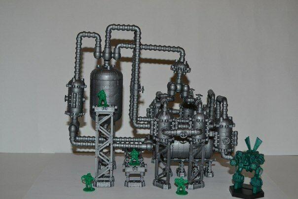 как выглядит Chemical Plant plastic terrain sprue Tehnolog Warhammer 40K Necromunda Pegasus фото