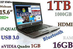 (3D-Design HD+) HP 8540w i7-QUAD (Huge 1TB 16GB) 15.6 nVidia