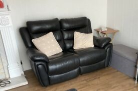 2 seater leather sifa