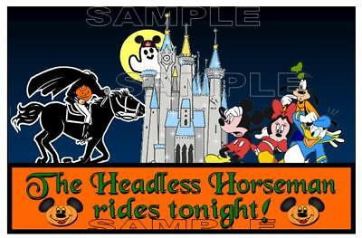 Disney Mickey's Halloween Party Headless Horseman Scrapbook Paper Die Cut Piece](Disney Halloween Party Headless Horseman)