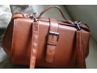 Leather tan bag