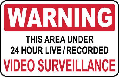 Video Surveillance Sign..warning - Ps-406