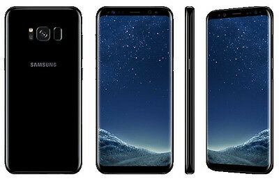 Samsung Galaxy S8 G950F/DS BLACK 64GB DUAL SIM 12MP FACTORY UNLOCKED SMARTPHONE
