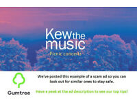 Kew THE Music Tickets -- Read the ad description before replying!!