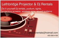 Lethbridge Projector and sound rentals (Dj your own event)