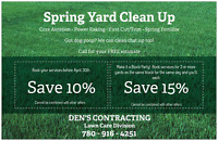 DEN'S CONTRACTING Lawn Care Division