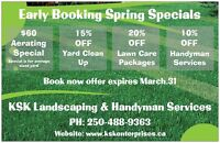 Early Booking Spring Specials