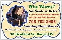 PROFESSIONAL MOVERS AVALIBLE AT YOUR CONVINENCE