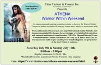 Athena: Womens Warrior Within Weekend Experience
