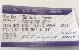 2 x Book of Mormon Friday