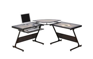 Glass computer desk - Z Line Designs