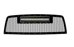 """10-12 Ram 2500/3500 Grille with 1R20"""" LED light bar"""