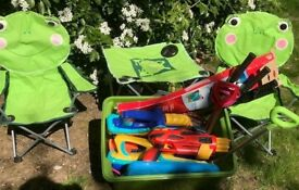 Box of outdoor toys