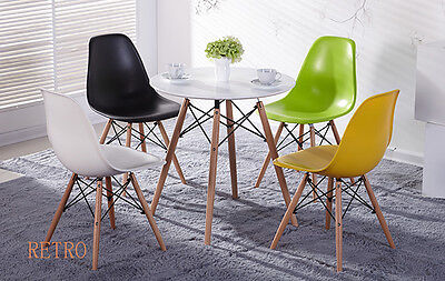 Round Dining table and 4 chairs retro cafe restaurant  Eiffel=