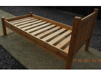 Single bed frame in pine 3ft No matteress. Buyer collects.