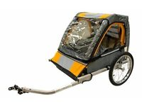 Halfords Double Buggy Child Bike Trailer almost new for £40 (original cost £99)