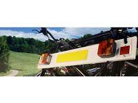 Bike carrier lighting board