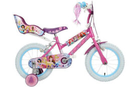 Disney Princess Childs Bike with Stabilisers